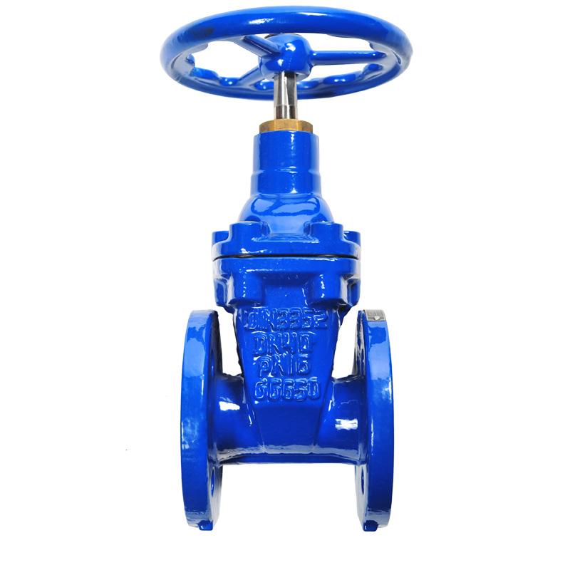 Gate valve flat body ggg ductile iron epdm coated